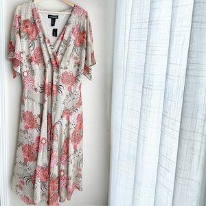NWT Lane Bryant Tan Floral Dress Size 24
